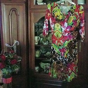 Eci colorful stretchy dress